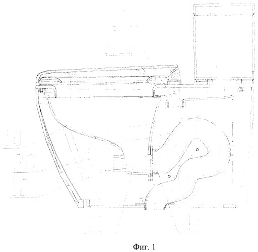 Водосберегающий туалет из нового композиционного материала из термопластичной смолы