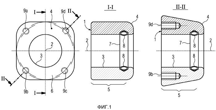 Электрический контактный элемент с главной осью