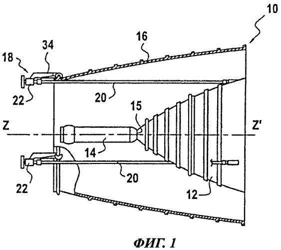 Ракетный двигатель с раздвижным диффузором