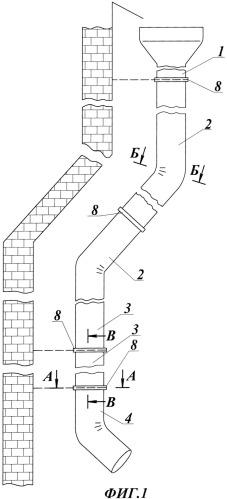 Водосточная секционная труба (варианты), секция водосточной трубы (варианты) и соединение секций водосточной трубы (варианты)