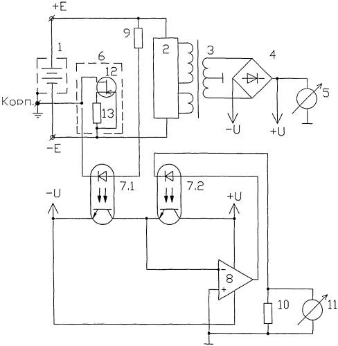Устройство контроля аккумуляторной батареи