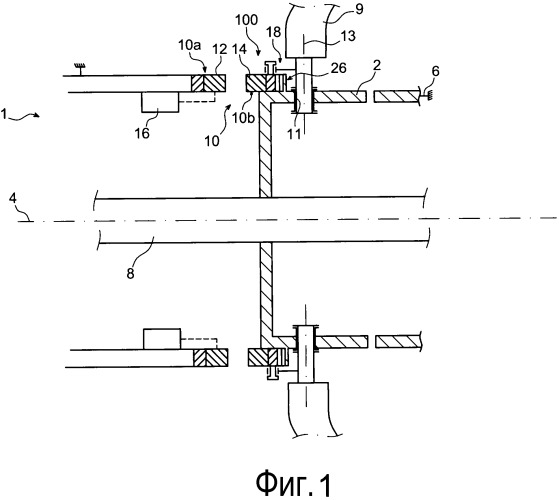 Система для изменения угла атаки лопаток рабочего колеса газотурбинного двигателя летательного аппарата, используя бесщеточный электродвигатель