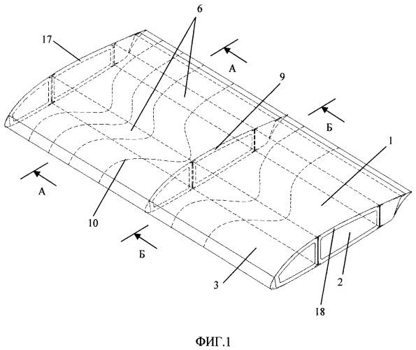 Крыло летательного аппарата из полимерных композиционных материалов