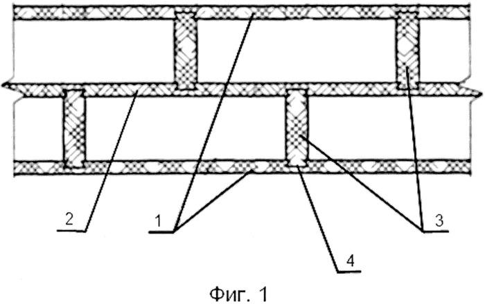 Способ возведения несущей стены из теплоизолирующих деревянных сотовых брусьев