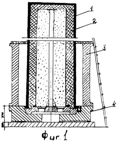 Способ литья многослойных заготовок для крупнотоннажных корпусов транспортно-упаковочных контейнеров (тук) из высокопрочного чугуна с шаровидным графитом (вчшг) ферритного и аустенитного классов для перевозки и хранения отработавшего ядерного топлива (оят)