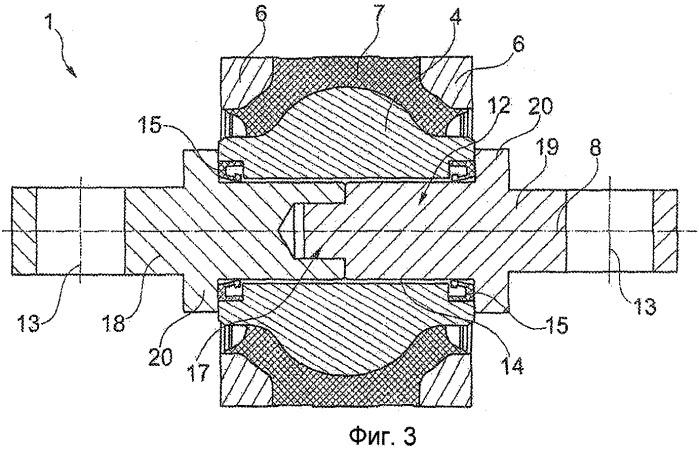 Шарнирный и/или подшипниковый узел с эластичной прокладкой
