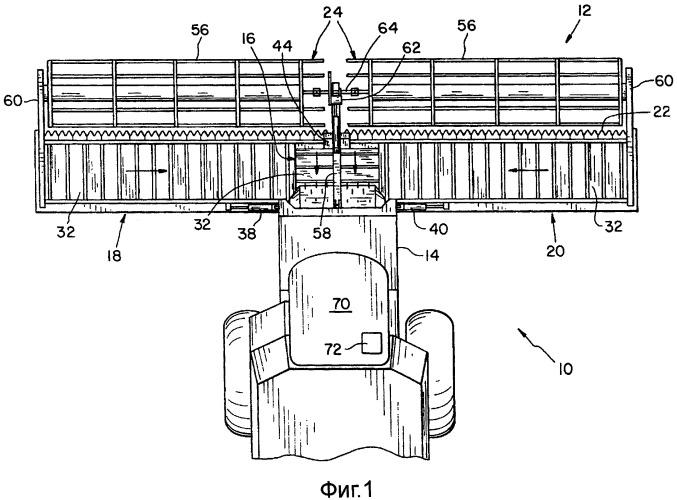 Секционированное направляющее устройство для ленты полотенного ленточного транспортера в сельскохозяйственной уборочной машине
