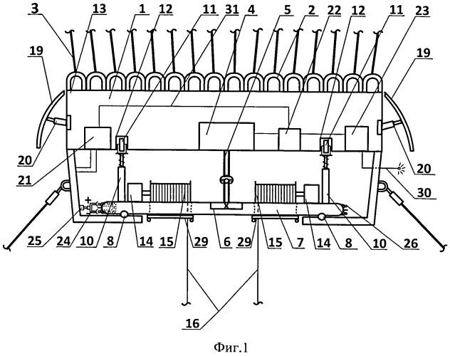 Система наведения и стабилизации грузозахватного механизма для аэростатно-канатной системы трелевки