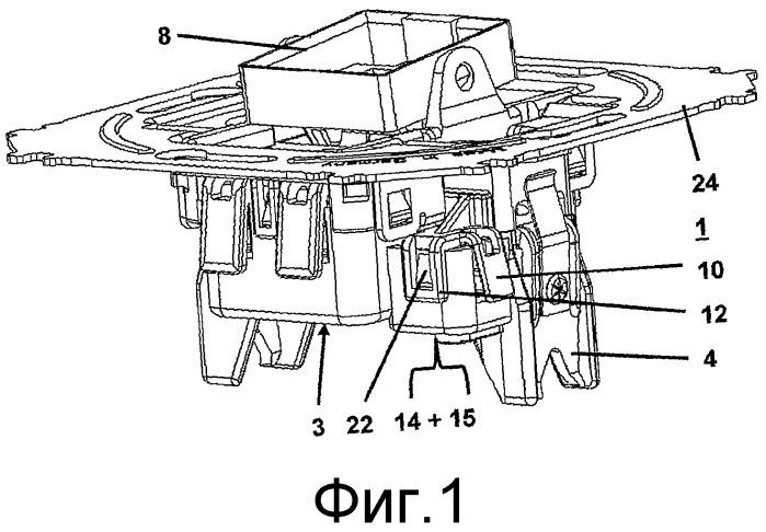 Скрытый установочный выключатель для скрытой проводки с опорным кольцом
