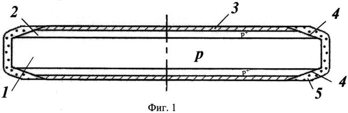 Мощный полупроводниковый резистор и способ его изготовления
