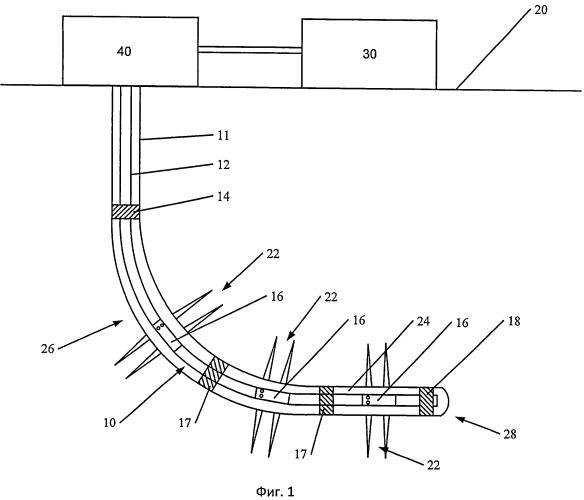 Скважинное устройство, скважинная система и способ обработки ствола скважины