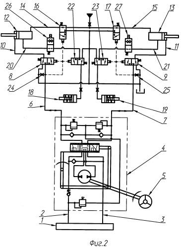 Гидравлическая система рулевого управления транспортного средства на гусеничном ходу