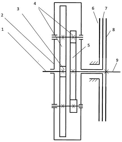 Двухступенчатый механизм сцепления