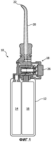 Механизм управления с помощью одного действия для устройства для очистки полости рта, использующего сжатый газ