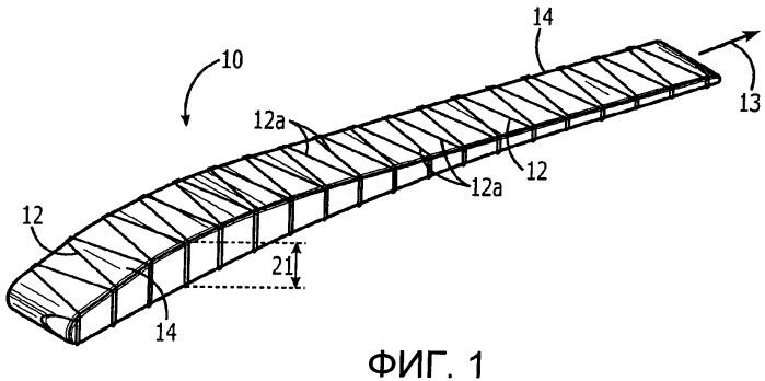 Обдуваемая выхлопными газами конструкция и связанный с ней составной узел, и способ изготовления этого узла