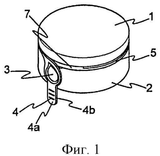 Крышка для сосуда, получаемая литьем под давлением материалов разного цвета