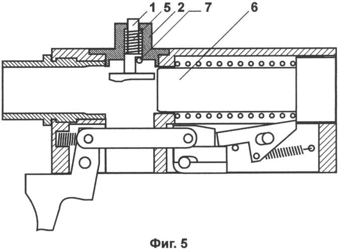 Система механической блокировки стрельбы при нарушении цикла выстрела