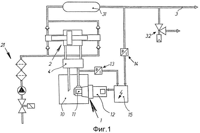 Гидравлический привод для преобразователя давления