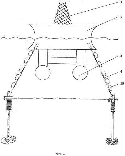 Способ установки винтоприсосного свайного якоря