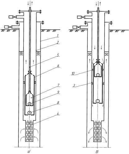 Способ промывки фильтра, установленного при приеме скважинного насоса