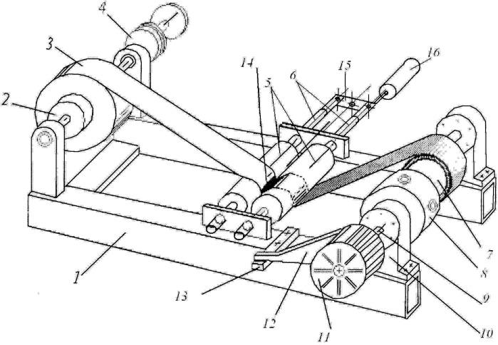 Устройство для изготовления подшипника скольжения намоткой