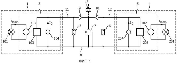 Уменьшение силы света системы освещения