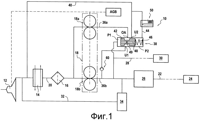 Контур подачи топлива для авиационного двигателя