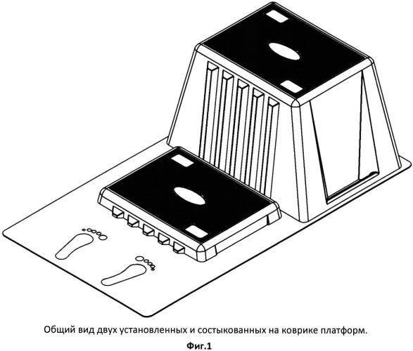 Комплект разновысоких степ-платформ для проведения функционально-нагрузочных тестов и способ изготовления степ-платформ для него