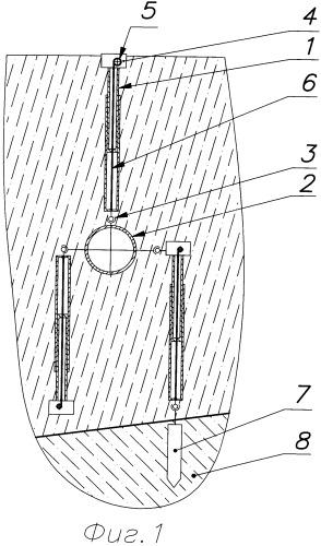 Устройство для измерения скорости и направления движения грунта относительно подземного трубопровода