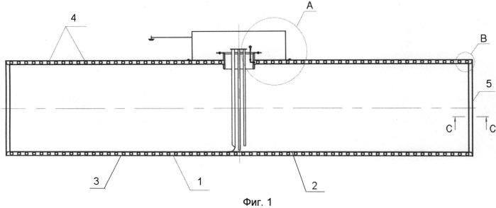 Полимерный двустенный резервуар для хранения светлых нефтепродуктов