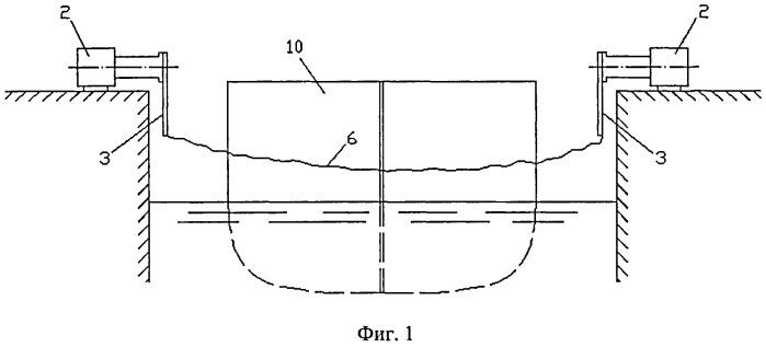 Предохранительное устройство судоходного шлюза