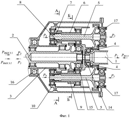 Дифференциальный редуктор турбовинтовного двигателя