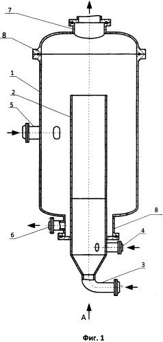 Аппарат подготовки сырья коксования для получения нефтяного кокса
