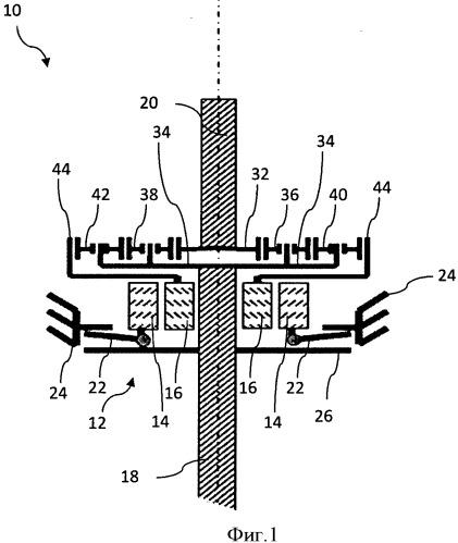 Приводной механизм для избирательного переключения привода между режимом тяги и режимом векторизации крутящего момента