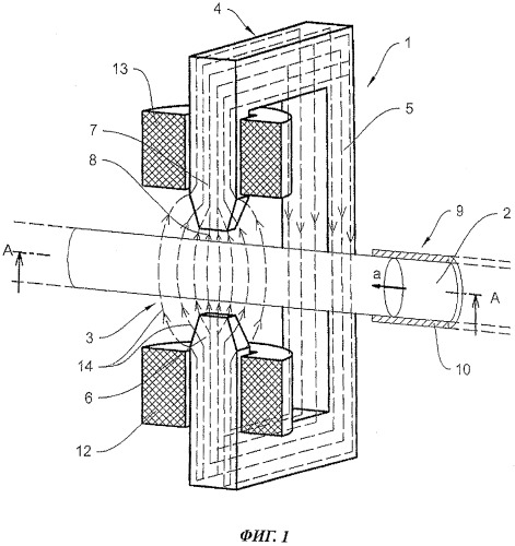 Способ и устройство для управления скоростью потока и замедления потока неферромагнитных электропроводных жидкостей и расплавов