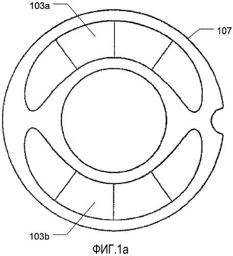 Разделенный на многочисленные сегменты перистальтический насос и кассета