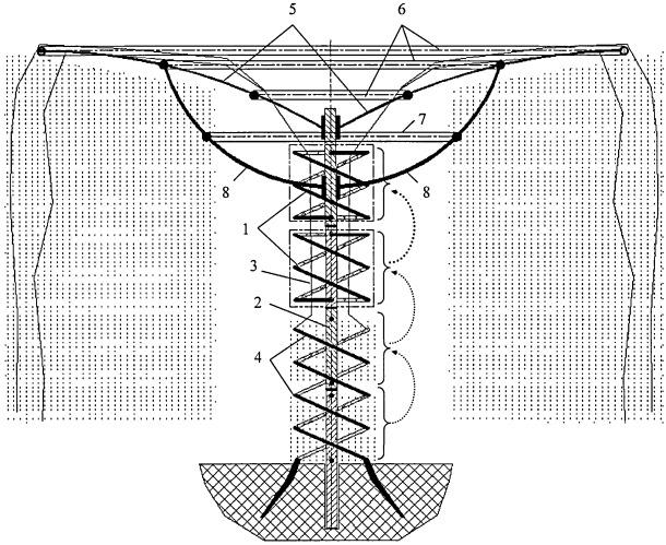 Способ формирования декоративного спиралевидного ствола древовидного виноградника с неустойчивым стеблем (вариант русской логики - версия 1)