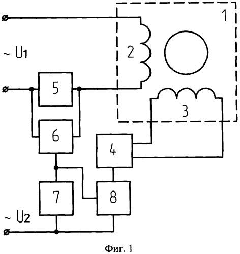Устройство управления электромагнитным моментом двухфазного двигателя переменного тока