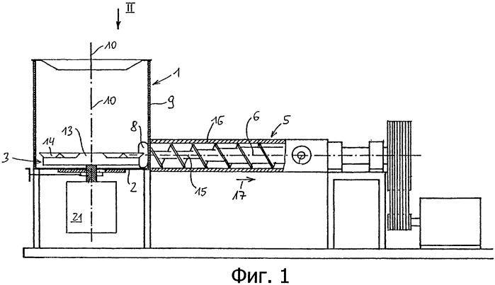 Устройство для приготовления полимерного материала, применение устройства для приготовления или вторичной переработки термопластичного полимерного материала и способ эксплуатации устройства для приготовления полимерного материала