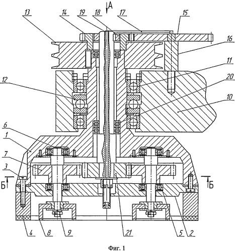 Устройство для абразивной обработки плоских поверхностей с переменной скоростью резания и использованием шарнирно-рычажного механизма