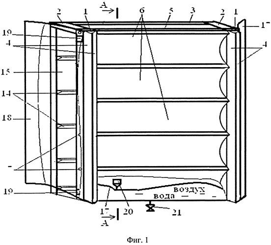 Устройство комбинированной панели для защиты дорожных транспортных средств от пуль и осколков