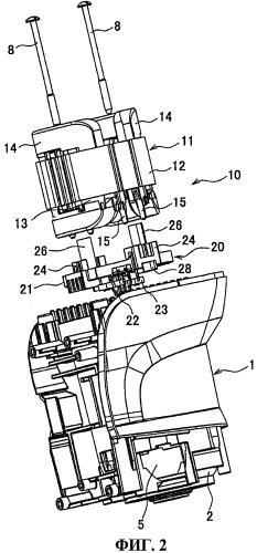 Крепежная конструкция для узла двигателя