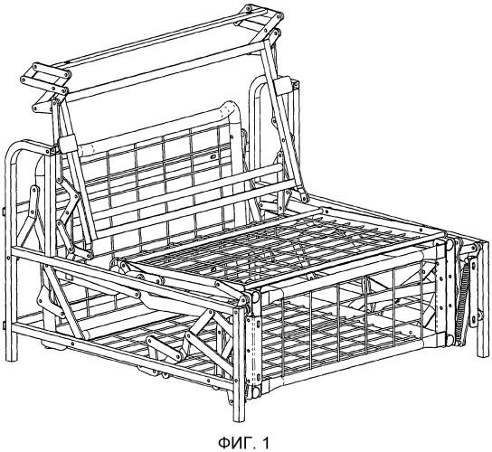 Структурный каркас для трансформируемого кресла или дивана