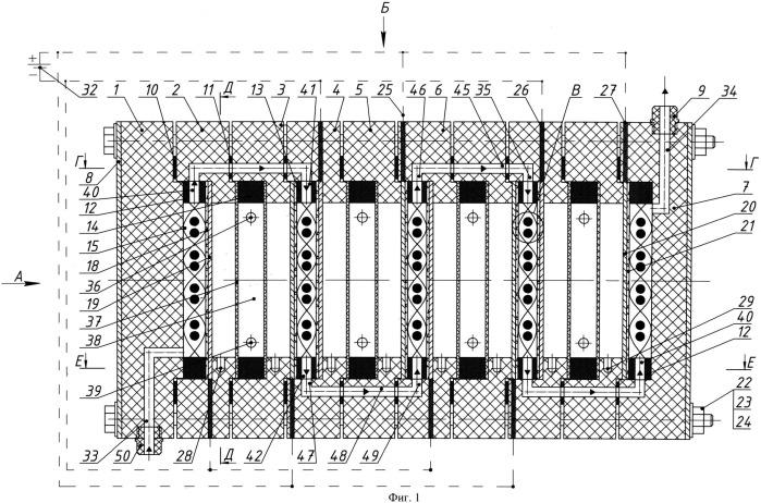 Электробаромембранный аппарат с плоскими фильтрующими элементами