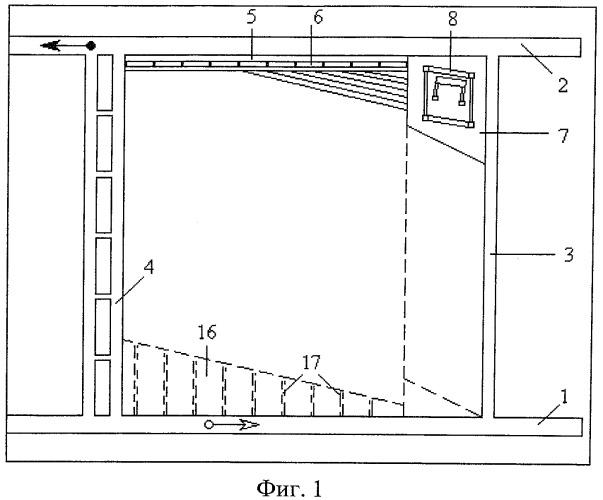 Способ механизированной разработки крутого угольного пласта средней мощности полосами по падению