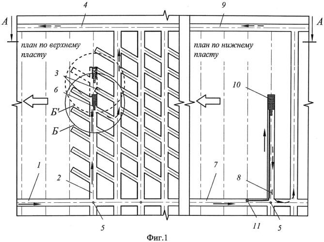Способ комбинированной разработки сближенных пластов разной мощности