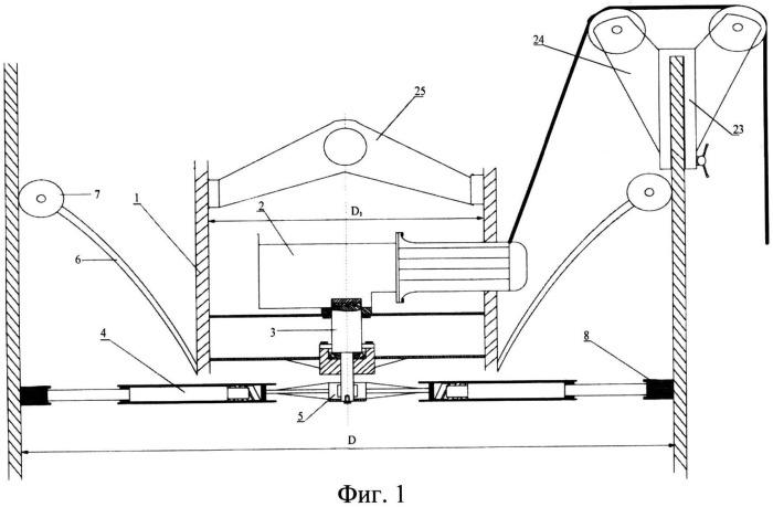 Устройство очистки и нанесения антикоррозийного покрытия на внутреннюю поверхность дымовой трубы
