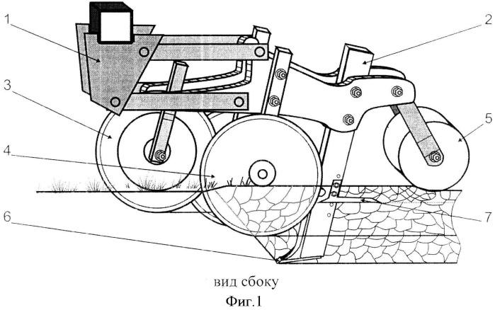 Способ полосной глубокой обработки почвы и орудие для его осуществления