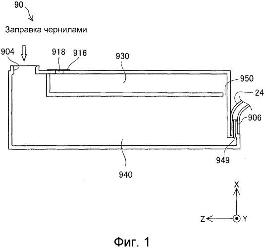 Контейнер для жидкости и система выталкивания жидкости