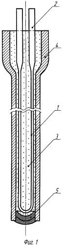 Нагреватель патронного типа повышенной надежности для жидкометаллического теплоносителя